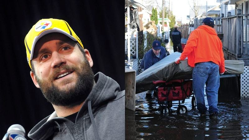 Illustration for article titled Hurricane Sandy Victims Receive Roethlisberger's Sexually Disturbing Thoughts And Prayers
