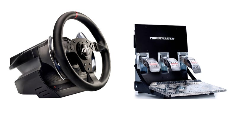 Illustration for article titled This Gran Turismo Wheel and Pedal Set Is Prettier than the Game