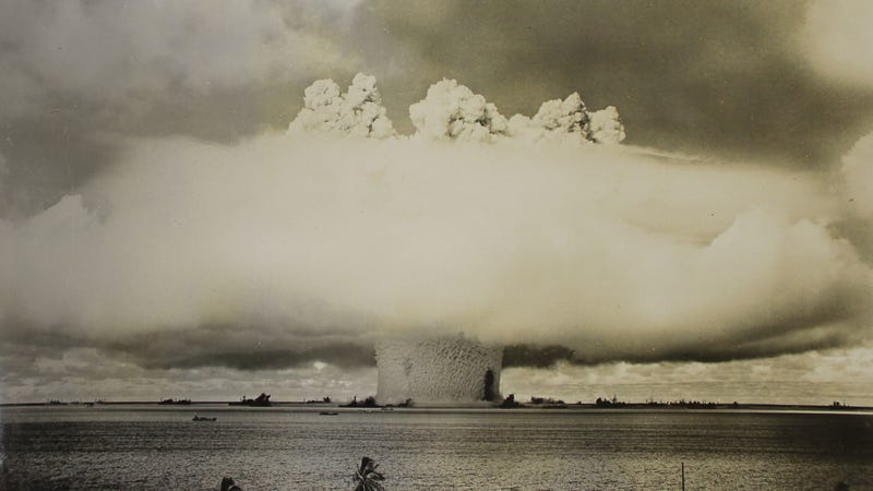 Bikini Atoll, 1946. Although impressive, the explosive yield was a mere quarter of the thermonuclear warheads currently embarked on U.S. nuclear submarines.