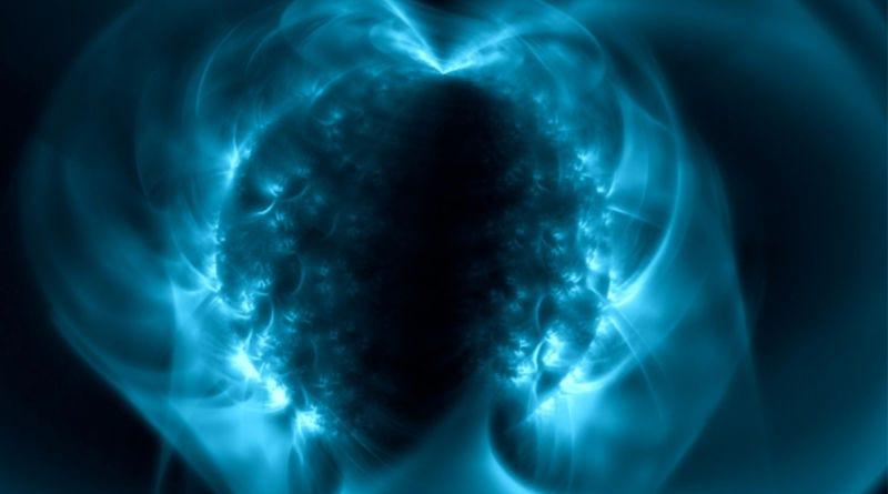 Ilustración de un magnetar, un tipo de estrella de neutrones