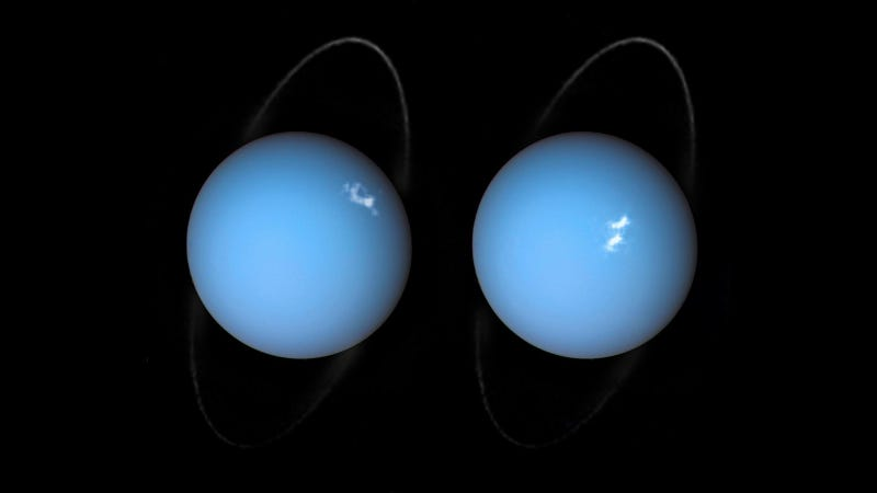 Two views of Uranus.