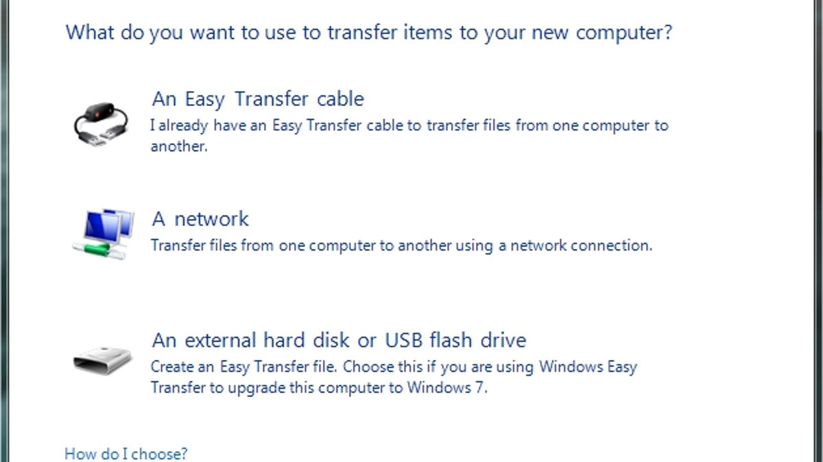 how do i transfer windows 7 from one computer to another