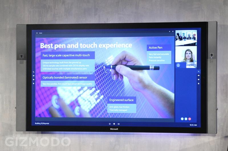 Illustration for article titled Microsoft Surface Hub: una enorme pantalla 4K táctil para colaborar