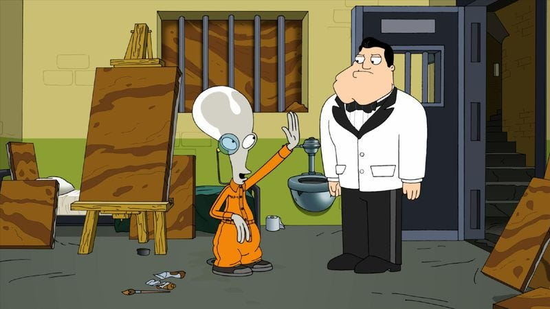 """Illustration for article titled American Dad: """"For Black Eyes Only"""""""