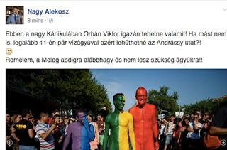 Illustration for article titled Orbánnal vízágyúztatná a melegfelvonulástAlekosz