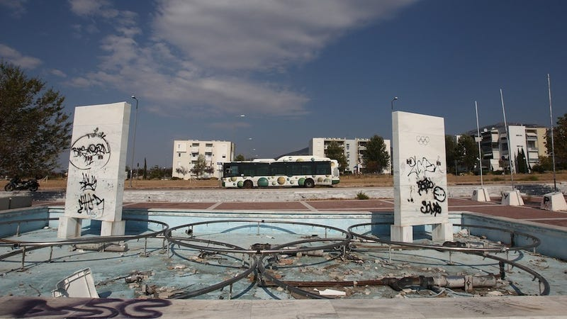 Illustration for article titled Eight years after the Athens Olympics, some venues have been left to rot