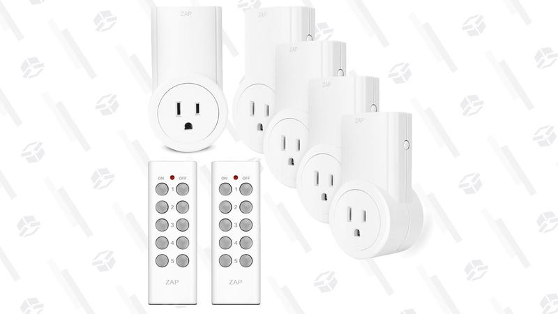 Etekcity Wireless Remote Control Electrical Outlet Switches - 5 pack | $21 | Amazon