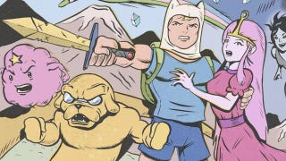 Illustration for article titled What if Adventure Time and Futurama were retro comic books?