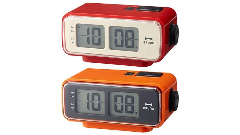 a modern digital alarm clock with retro flip stylings. Black Bedroom Furniture Sets. Home Design Ideas