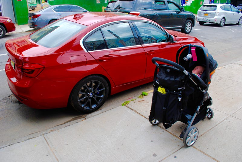 Baby meet BMW. Photo: Author