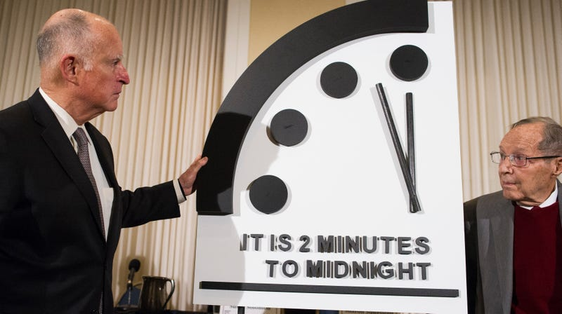 Illustration for article titled The Doomsday Clock Is Just Two Minutes From Midnight, Again