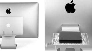 Illustration for article titled The BackPack 2 Puts a Storage Shelf with Cable Management on the Back of Your Mac