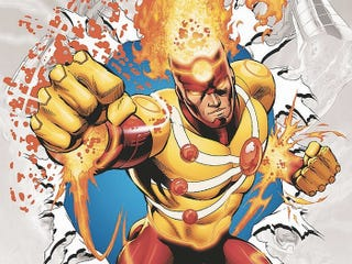Illustration for article titled Firestorm's Outfit On The Flash Could Possibly Use A Little Work