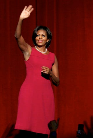 Illustration for article titled Michelle Obama Fundraises With Donna Karan, Pisses Off PETA
