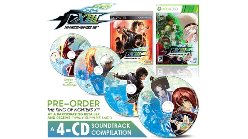Illustration for article titled The King of Fighters XIII Preorders Come with 15 Years of Musical History