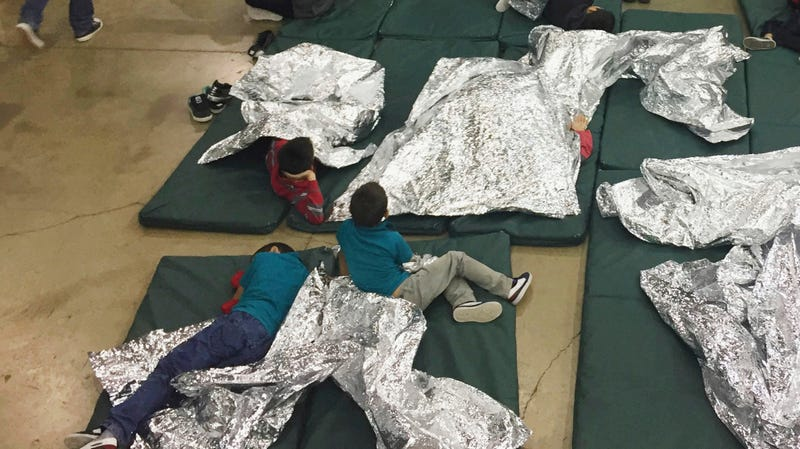 Photo of an immigration holding facility in Texas passed to AP by the U.S. Customs and Border Protection's Rio Grande Valley Sector