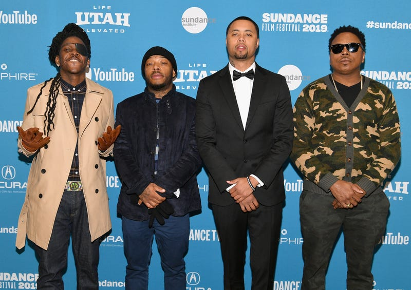 (L-R) Isiain X, Antoine Redus, Jamal Trulove, and Willie Hen attend the 'The Last Black Man In San Francisco' Premiere during the 2019 Sundance Film Festival at Eccles Center Theatre on Jan. 26, 2019, in Park City, Utah.