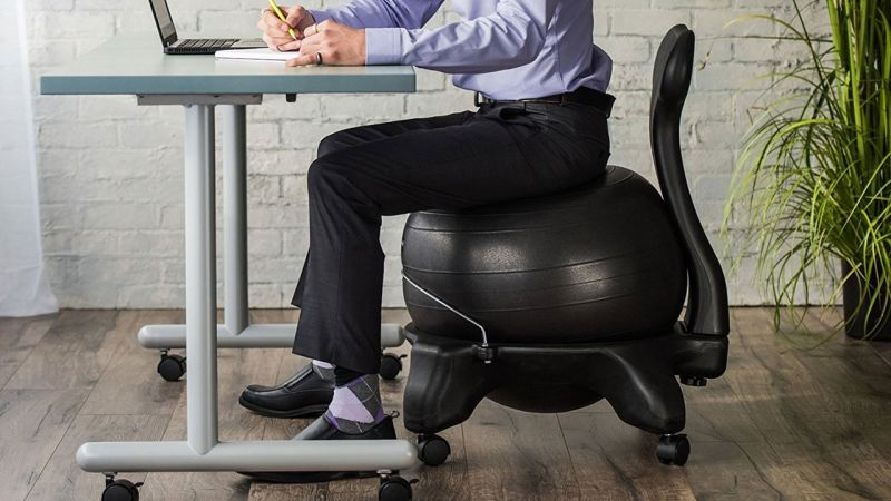 this 60 balance ball chair will work out your core while you work rh kinjadeals theinventory com