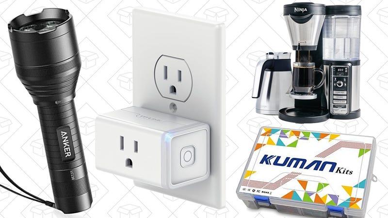 Illustration for article titled Today's Best Deals: Anker Flashlights, Mini Smart Plug, Arduino Kit