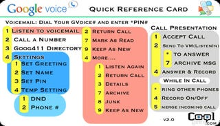 Illustration for article titled Google Voice Quick Reference Cheatsheet v2.0 Speeds Through Phone Menus