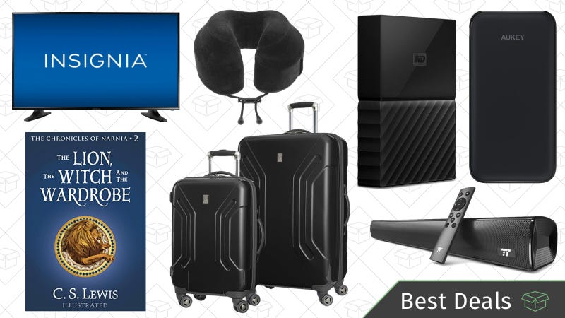 Saturdays best deals travel accessories world backup day sales amazons huge luggage sale our readers favorite travel pillow a ton of discounted storage for world backup day and more lead saturdays best deals fandeluxe