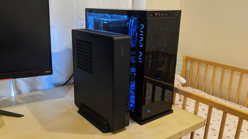 Small form factor cases come in all shapes and sizes, but take up significantly less space than a traditional mid tower.