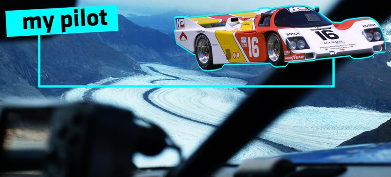 Illustration for article titled Flying Over Alaska's Glaciers With A Le Mans Racer At The Helm