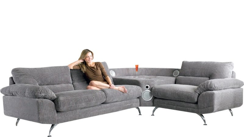 Illustration for article titled Why Does This iPod Dock Sofa Exist?
