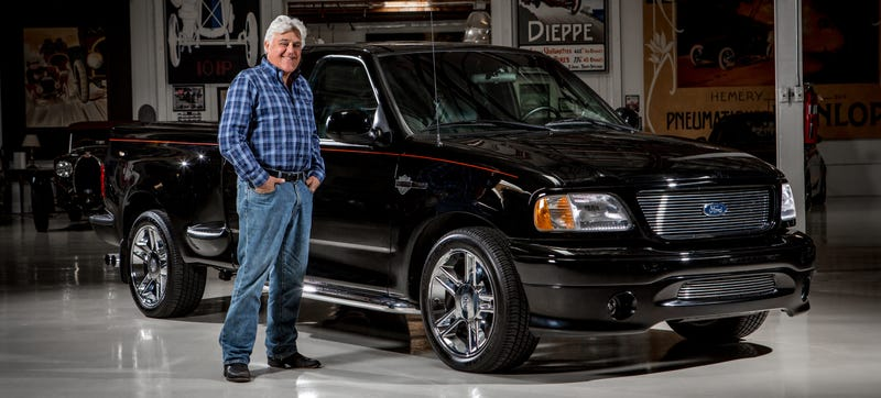 Illustration for article titled Jay Leno Becomes A Used Truck Salesman For The First Ever F-150 Harley Davidson