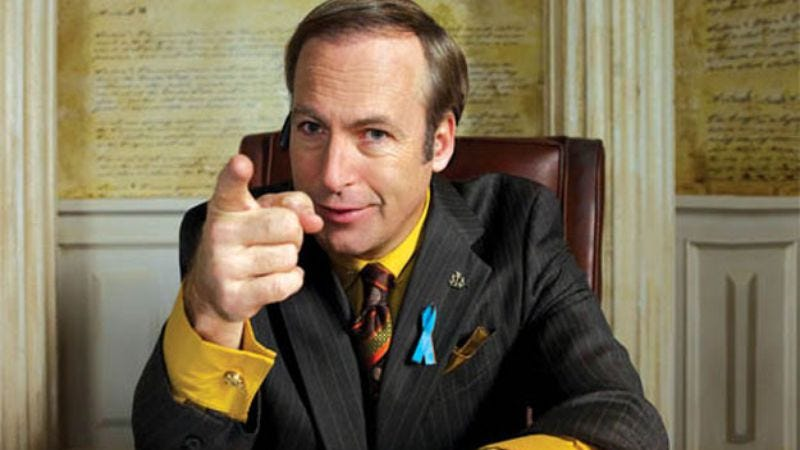 Illustration for article titled Watch Breaking Bad's Bob Odenkirk dissect the ads of other sleazy lawyers