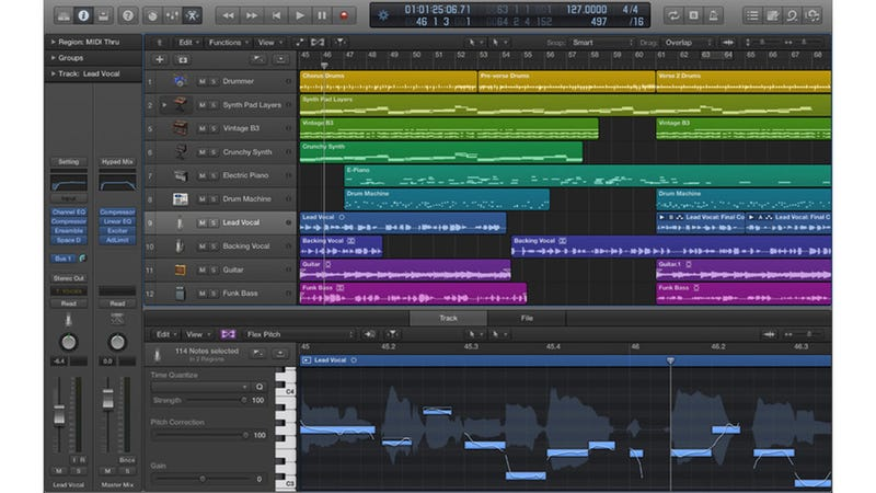 Illustration for article titled Apple Logic Pro X: A Whole New Look for Apple's Music-Making Machine