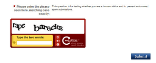 Illustration for article titled Nasty Phrases Are Slipping Into The Official White House Website's CAPTCHA