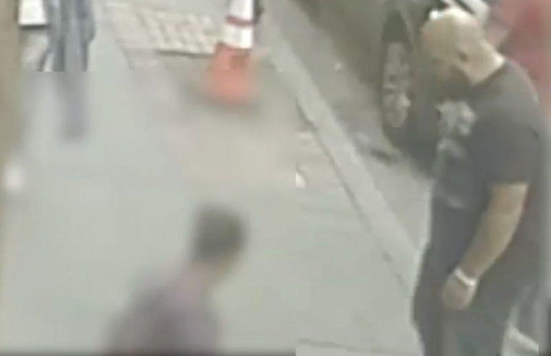 Surveillance footage in the case of a man New York City police are seeking for verbally and physically attacking anotherNew York City Police Department