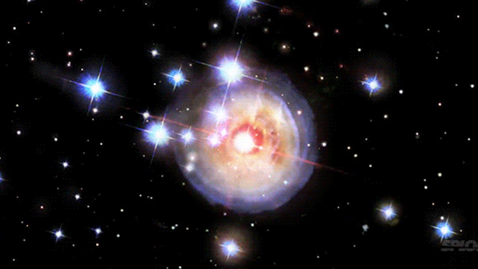 Así es el estallido de una estrella captado a lo largo de 4 años