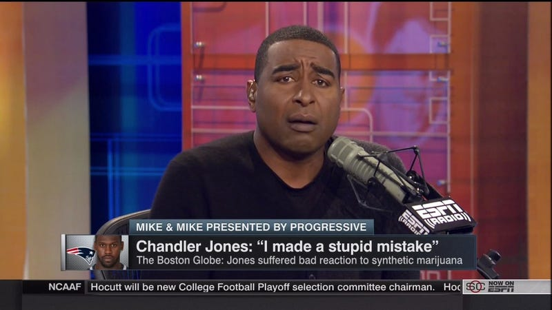 Illustration for article titled Cris Carter Casually Suggests Chandler Jones Was Smoking PCP