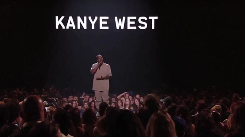 Illustration for article titled Here's Kanye West's VMA speech recut as a stand-up act