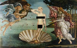 Illustration for article titled A pucér Miley Cyrus Botticelli vásznán