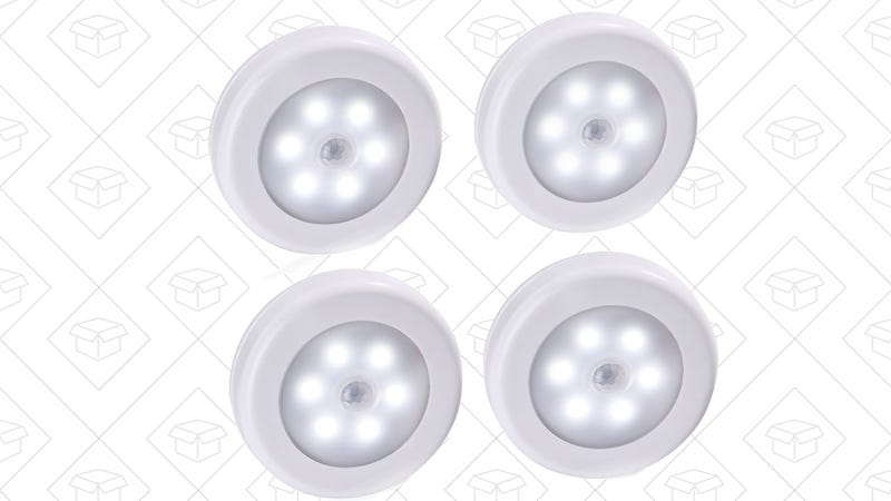 4-Pack Motion Sensing Night Lights, $13 with code 77TY9PNE