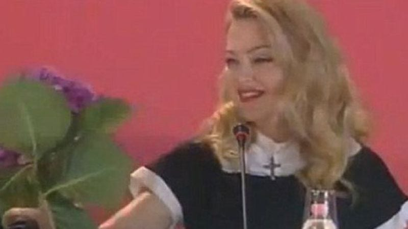 Illustration for article titled Madonna reportedly still being horrible at film festivals