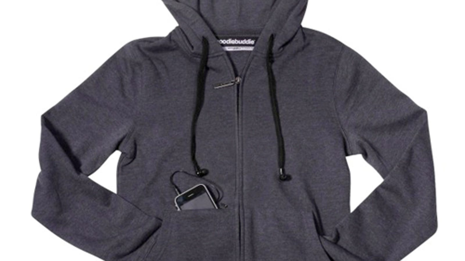 headphones wireless logitech - Hoodie With Earbuds Instead of Strings Is Greatest iPod Accessory of All