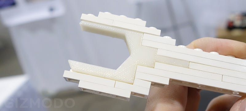 Replacing Parts of 3D-Printed Models With Lego Speeds Up Prototyping