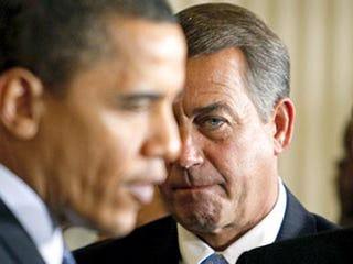 President Obama and House Speaker John Boehner (Getty)