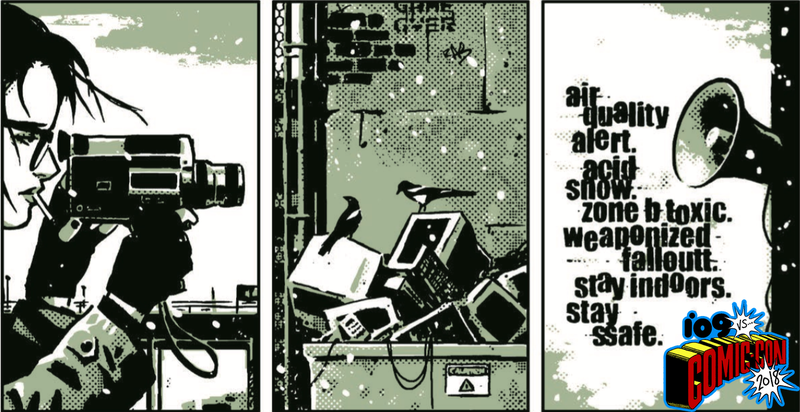 A sequence from the opening pages of The Seeds #1.