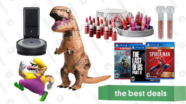 Friday s Best Deals: PS4 Games Sale, MAC Lipstick Gift Set, ASUS Gaming Laptop, Inflatable Dinosaur Costume, Just Dance 2021, Roomba i3, and More