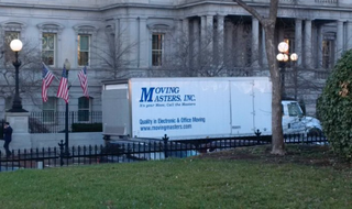 Moving van spotted outside the West Wing of the White HouseTwitter