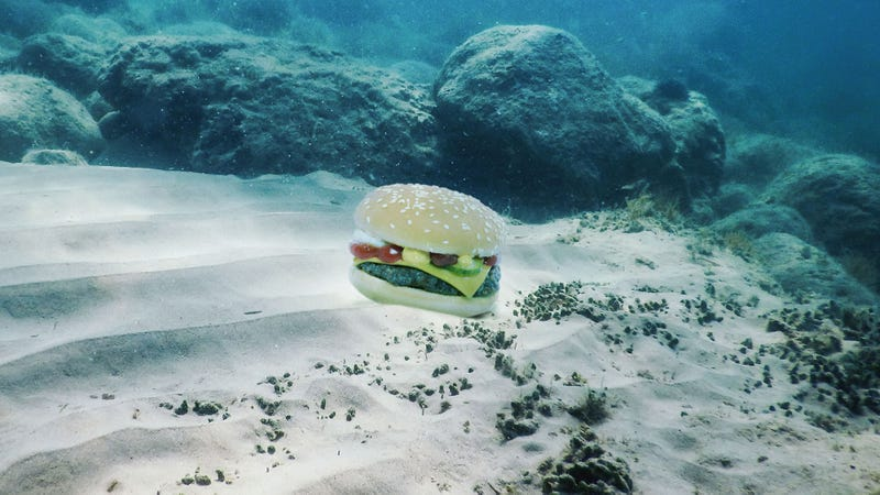 Illustration for article titled Nature Is Incredible: This Suicidal Octopus Species Can Perfectly Camouflage Itself As A Hamburger To Get Predators To Eat It Faster