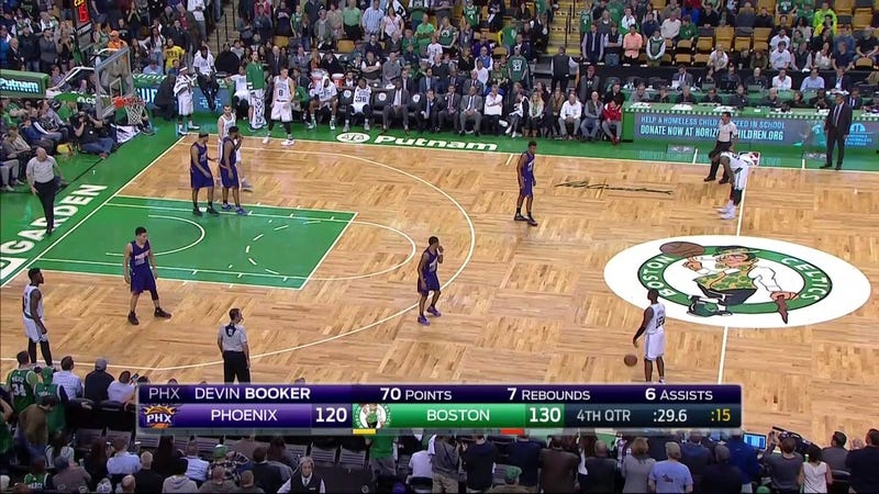 Booker Scores 70, But Celtics Outlast Suns 130-120