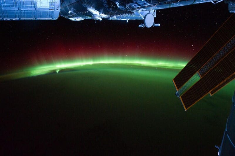 Illustration for article titled Just Another Stunning Photograph of Auroras From Space
