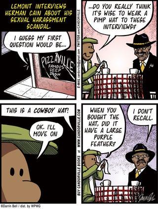 Illustration for article titled Candorville Comic: Cain Scandal