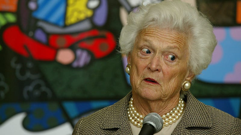 Illustration for article titled Barbara Bush couldn't fucking stand Trump, new book details